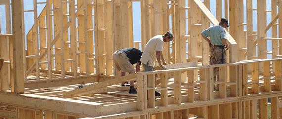 Сухая доска для каркасного домостроения