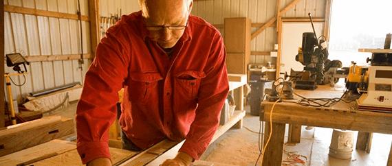 Сухой пиломатериал для столярных мастерских