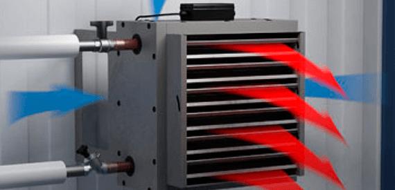 Калориферы для рекупирации тепла от вакуумной сушильной камеры