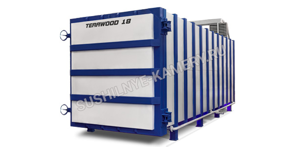 Вакуумная сушильная камера для древесины Terawood-18 объемом 18 куб. для пиломатериала длинной 6 метров