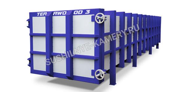 Пресс вакуумная сушильная камера для пиломатериала Terawood объемом 3 куб. для пиломатериала длинной 6 метров