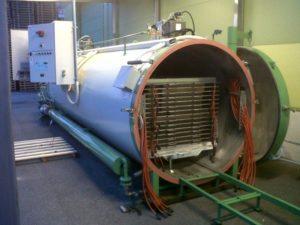 Вакуумная камера в цехе объемом 4 куба для производства термодревесины