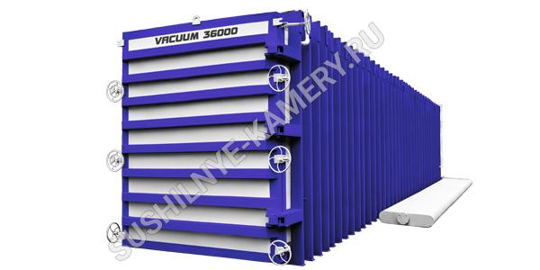 Сушильная камера для древесины объемом 36 кубов на производственной базе